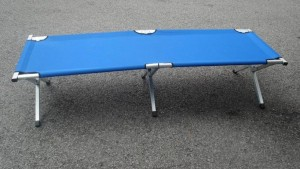 Blue Camping Bed